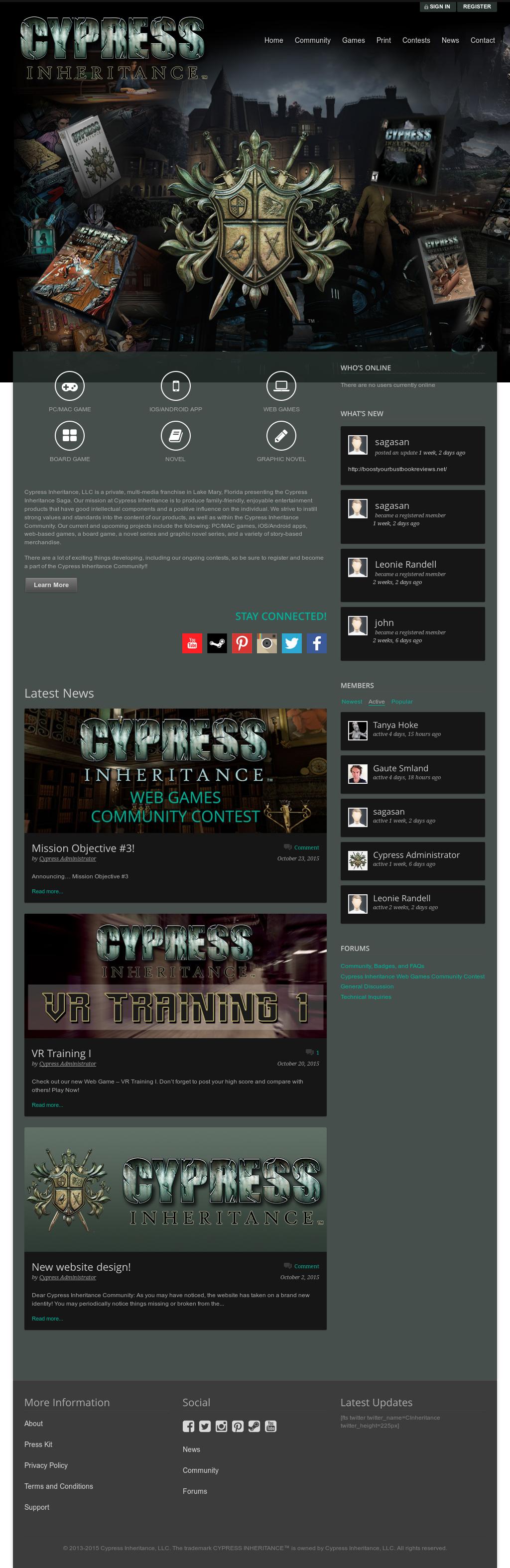 cypress inheritance the beginning