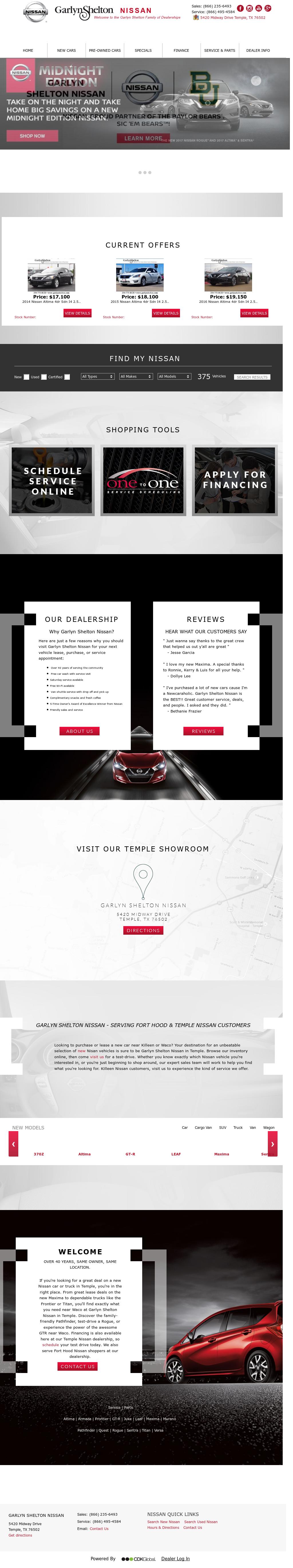 Garlyn Shelton Nissan >> Garlyn Shelton Nissan Temple Tx Competitors Revenue And