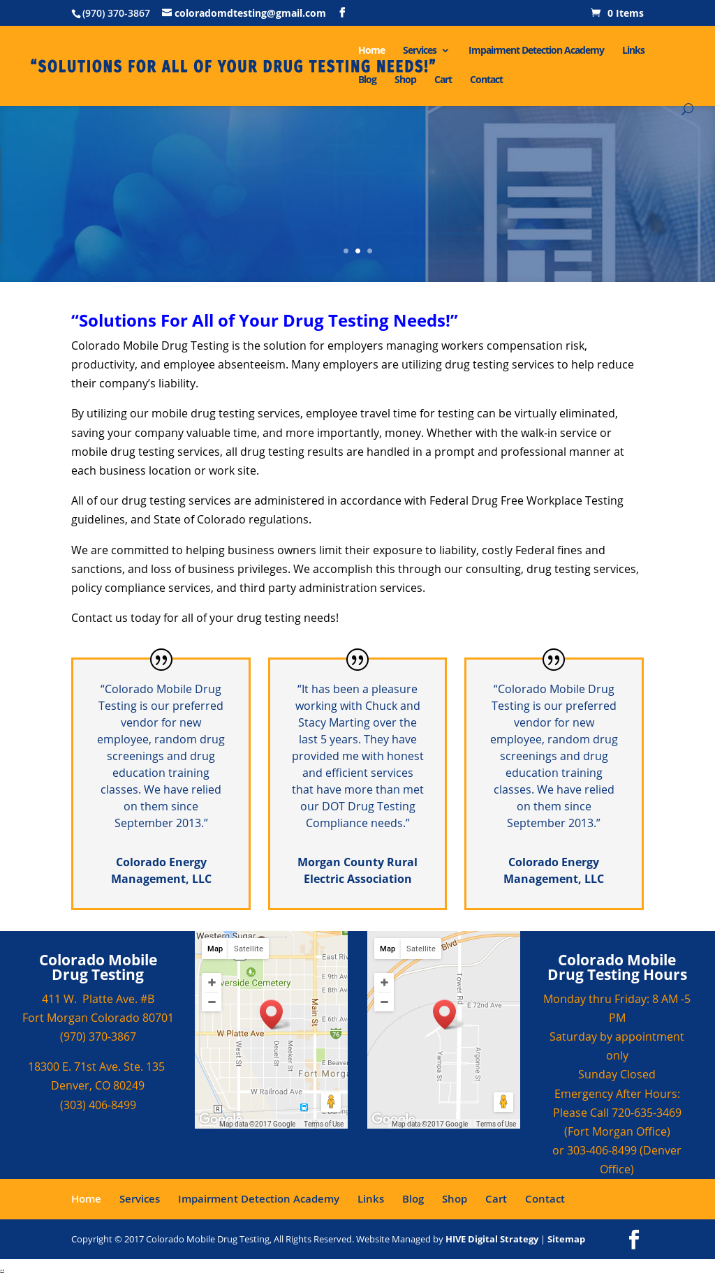 Colorado Mobile Drug Testing Competitors, Revenue and
