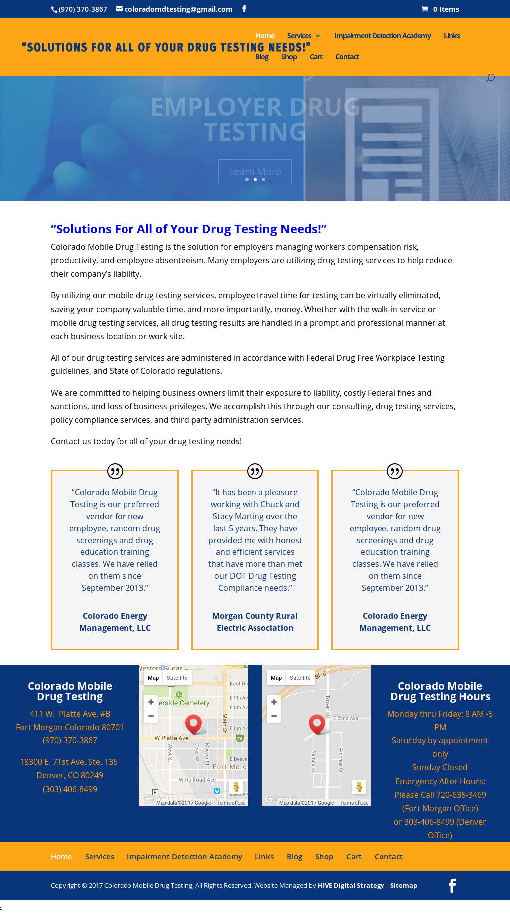 Colorado Mobile Drug Testing Competitors, Revenue and Employees