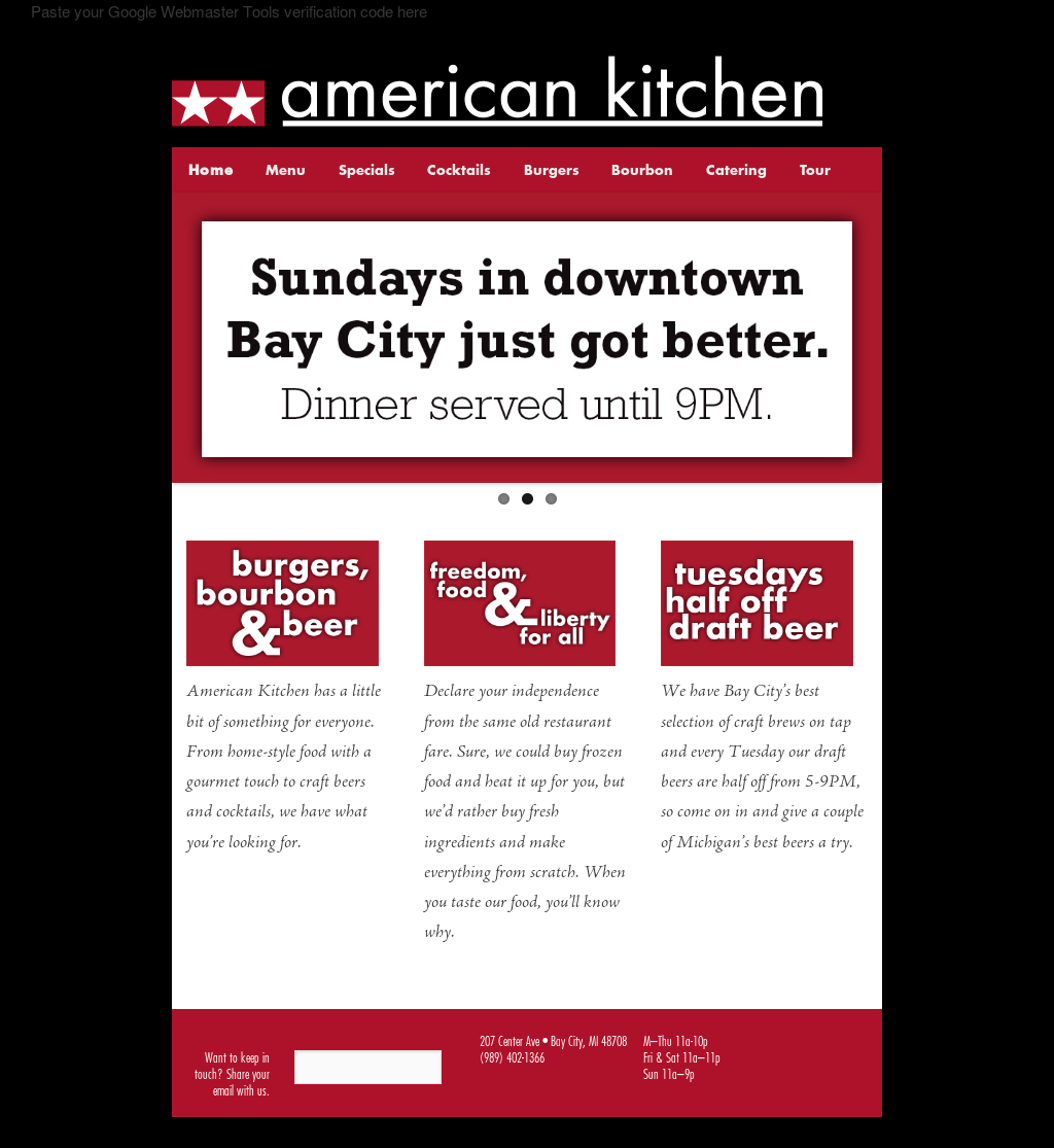 American Kitchen Website History