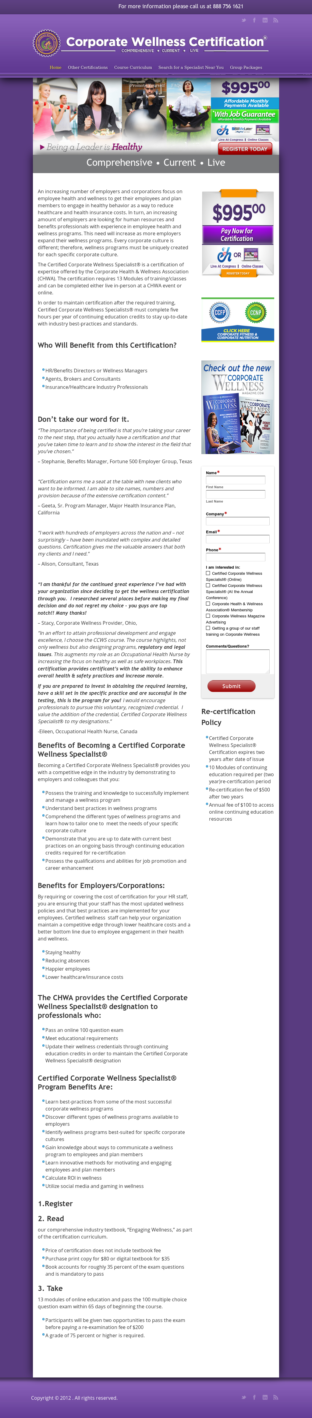 Corporate Health & Wellness Association Competitors, Revenue and