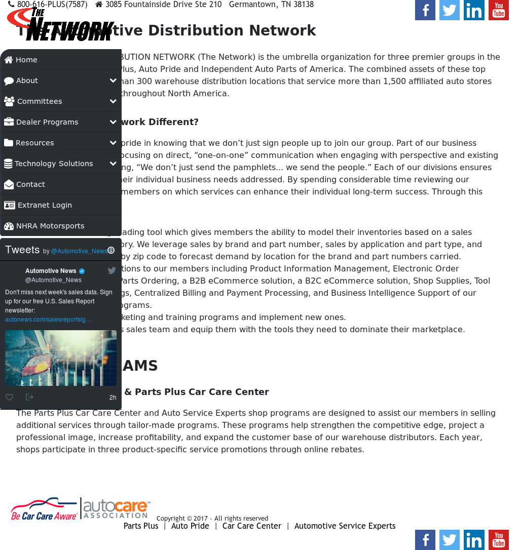 Automotive Distribution Network Competitors, Revenue and