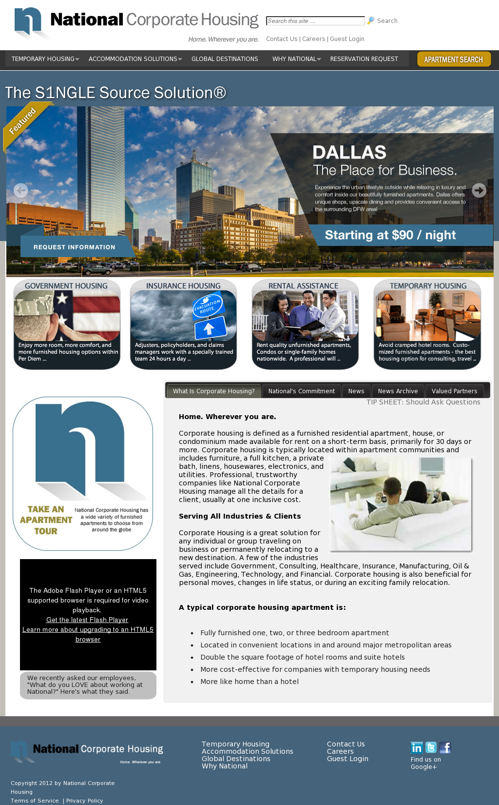 National Corporate Housing Competitors, Revenue and