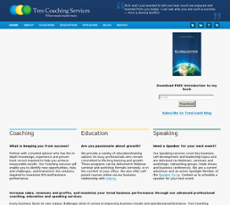 Tres Coaching Services website history