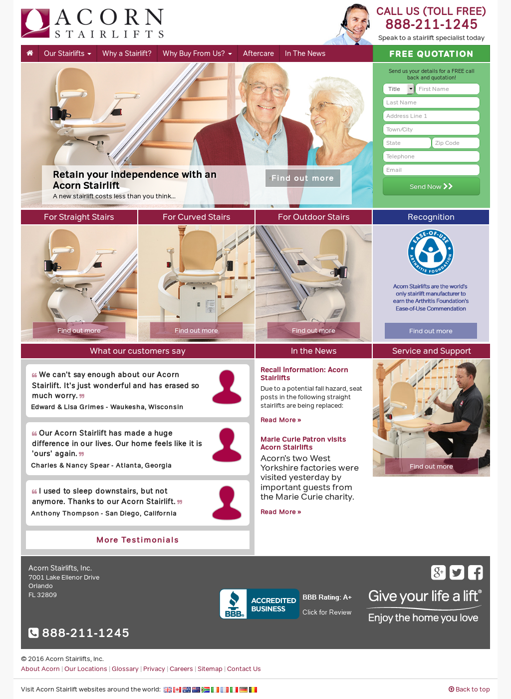 Acorn Stairlifts Competitors, Revenue And Employees   Owler Company Profile