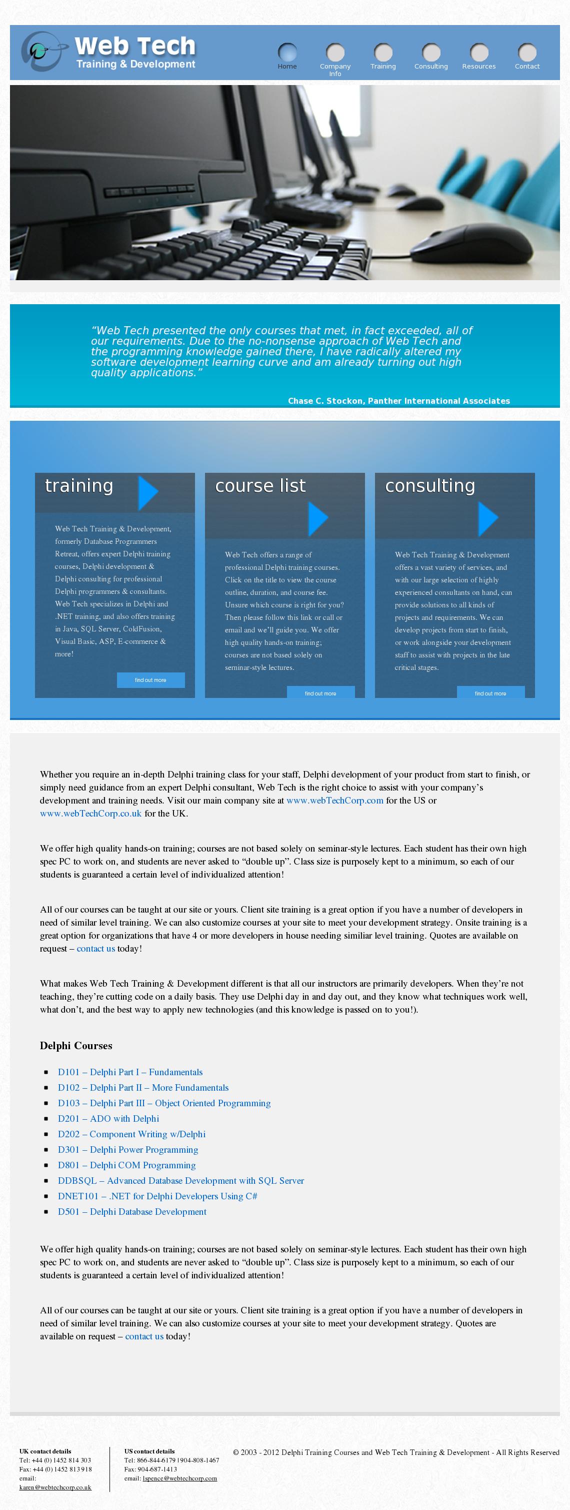 Delphi Training Courses And Web Tech Training & Development