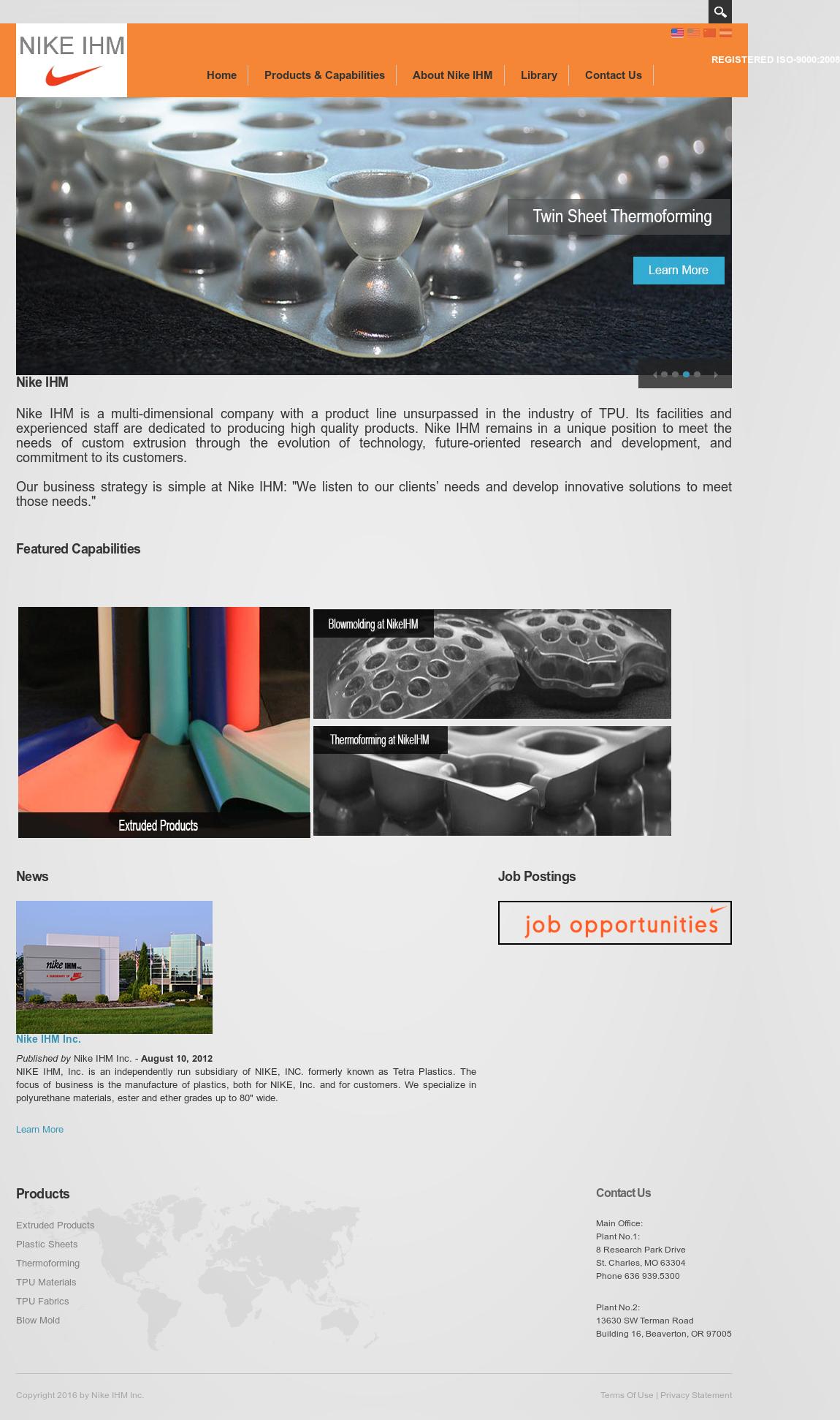 Nike Ihm website history