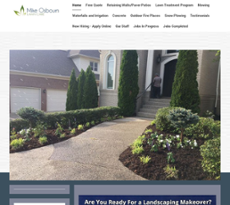 Mike Osbourn Lawn Care S Website Screenshot On Jun 2017