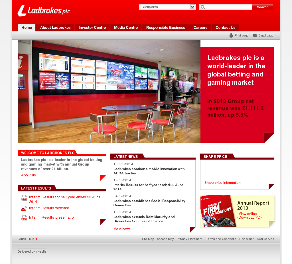 Ladbrokes Competitors, Revenue and Employees - Owler Company