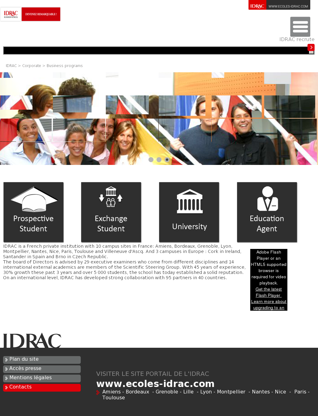 Idrac Business School Competitors, Revenue and Employees