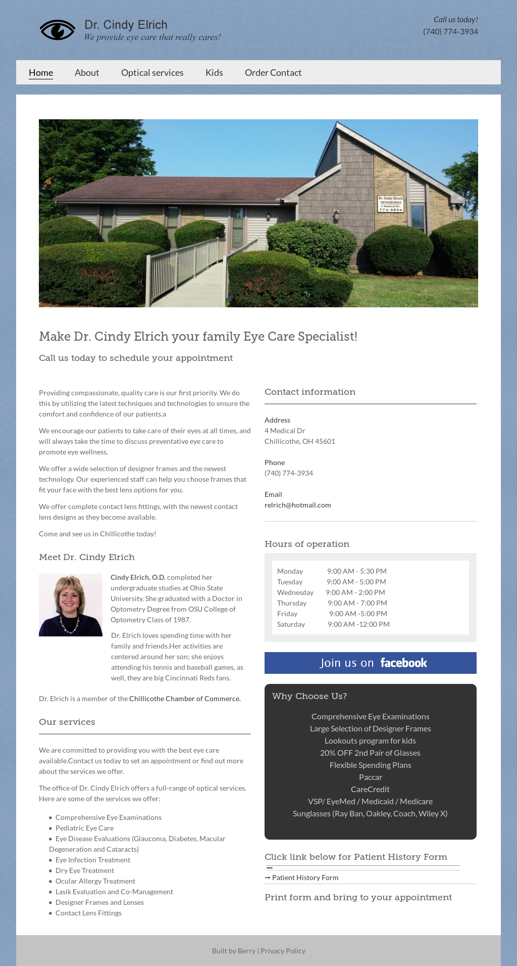 Dr Cindy W Elrich Optometrist Competitors, Revenue and