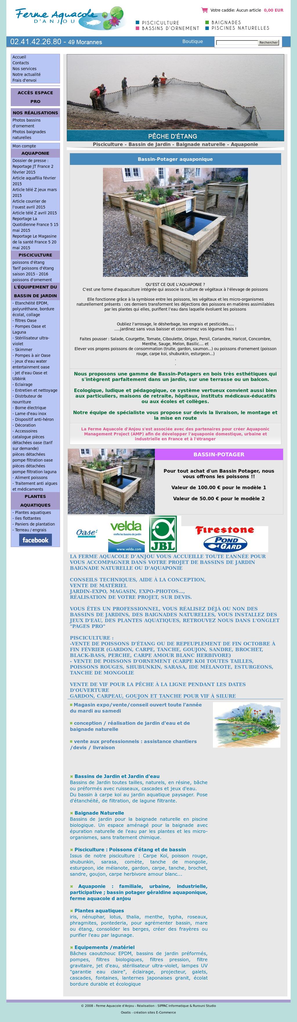 Ferme Aquacole D\'anjou : Bassin De Jardin, Bassin De Baignade ...
