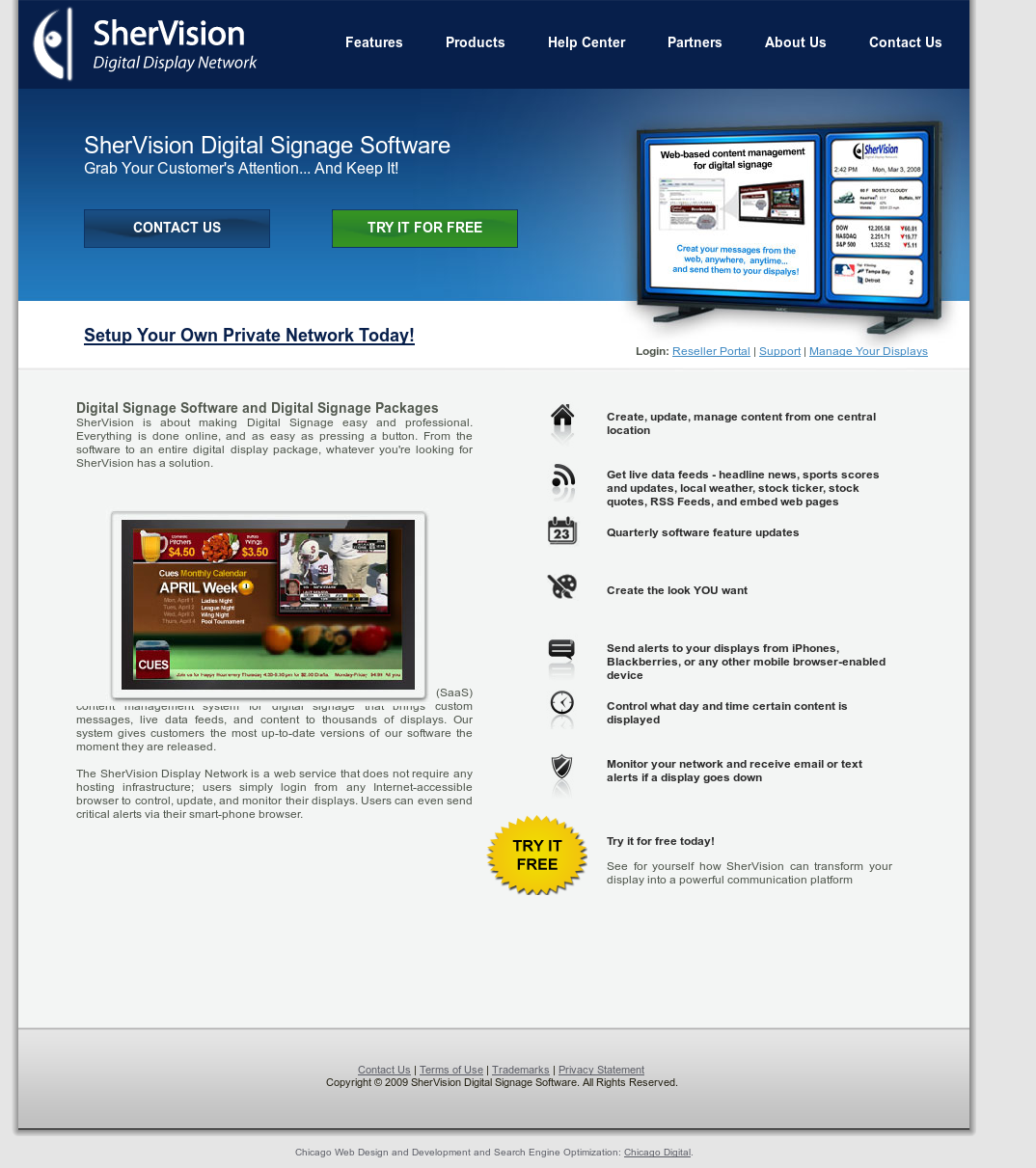 Shervision Digital Signage Software Competitors, Revenue and