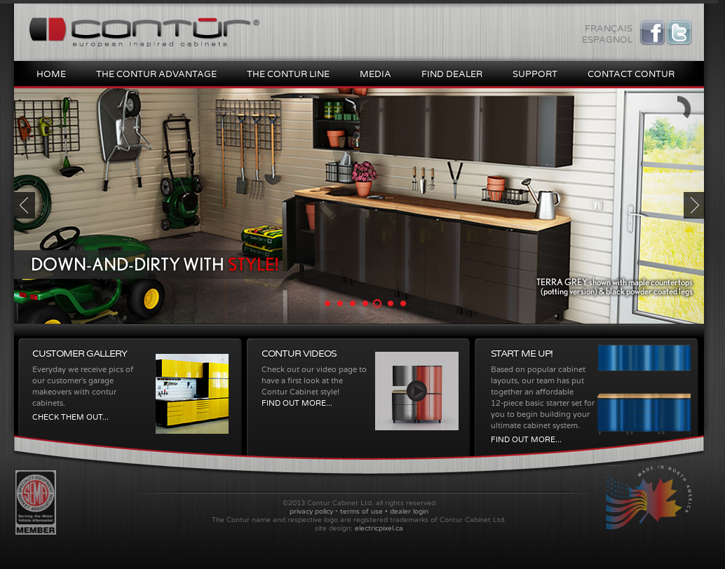 Contur Cabinet Website History
