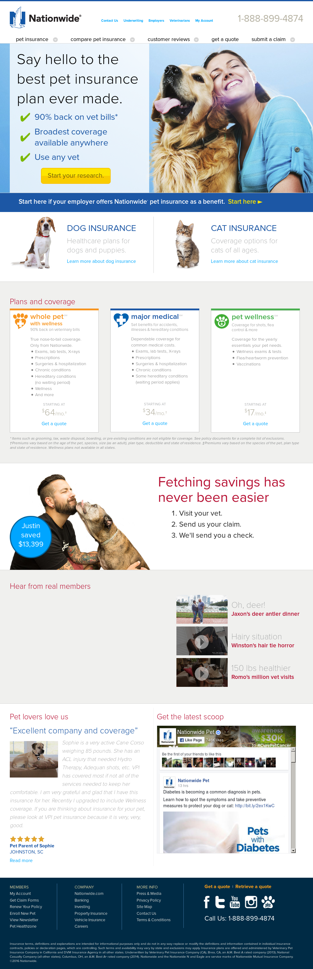 Nationwide Pet Competitors Revenue And Employees Owler Company