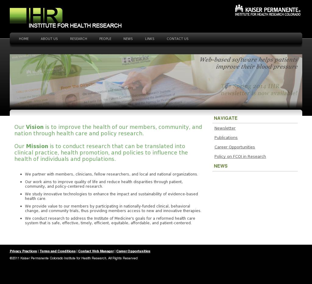 Kaiser Permanente Colorado Institute for Health Research