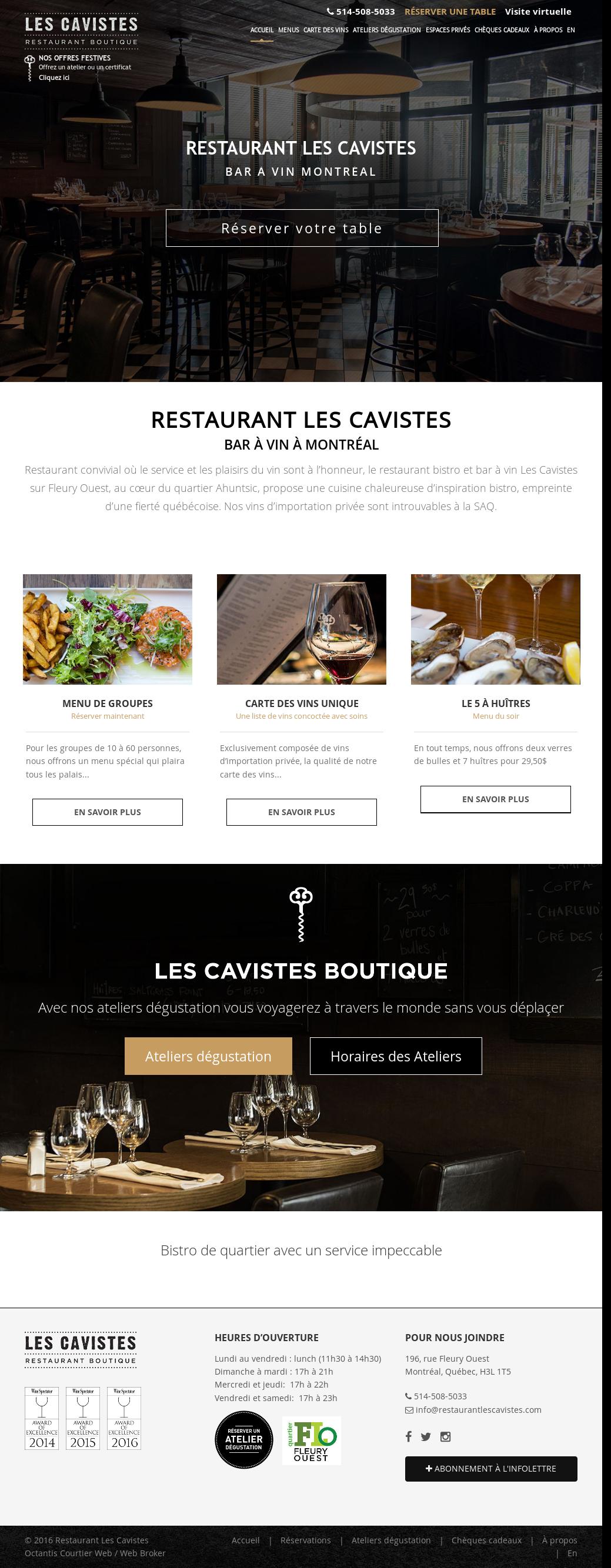 Les Cavistes Fleury Ouest Website History