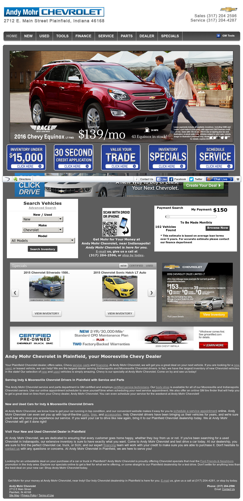 Andy Mohr Chevrolet Plainfield >> Andy Mohr Chevrolet Competitors Revenue And Employees