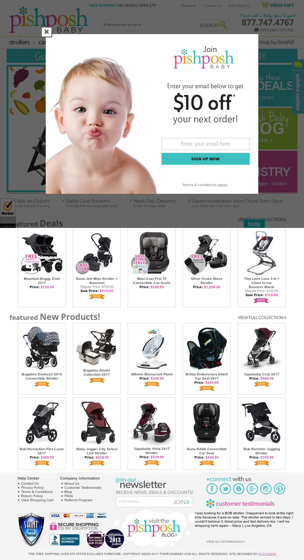 PishPosh Baby @pishposhbaby Pish Posh Baby is a baby boutique offering the latest and hottest baby gear including strollers, car seats, bedding and more. We're Moms.