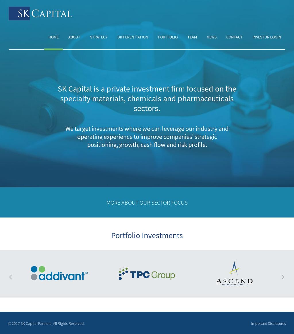 Owler Reports - Press Release: SK Capital : SK Capital Announces New ...