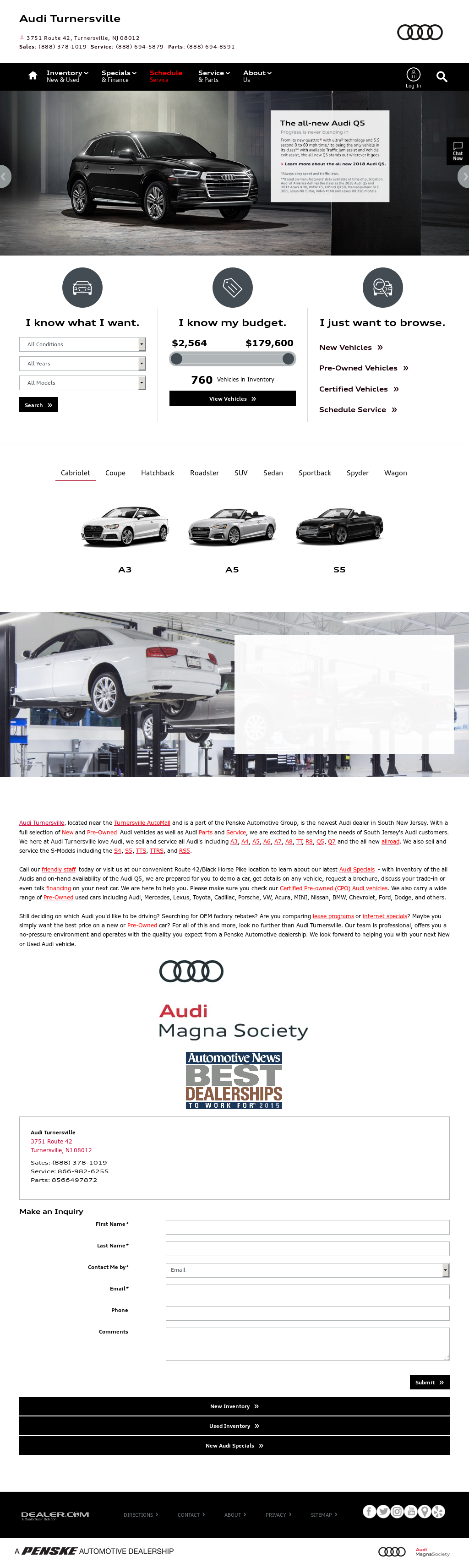 Audi Turnersville Competitors Revenue And Employees Owler Company - Audi turnersville