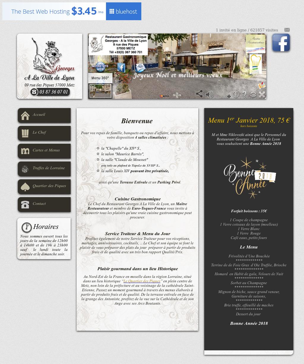 Restaurant Georges A La Ville De Lyons Website Screenshot On Jan 2018