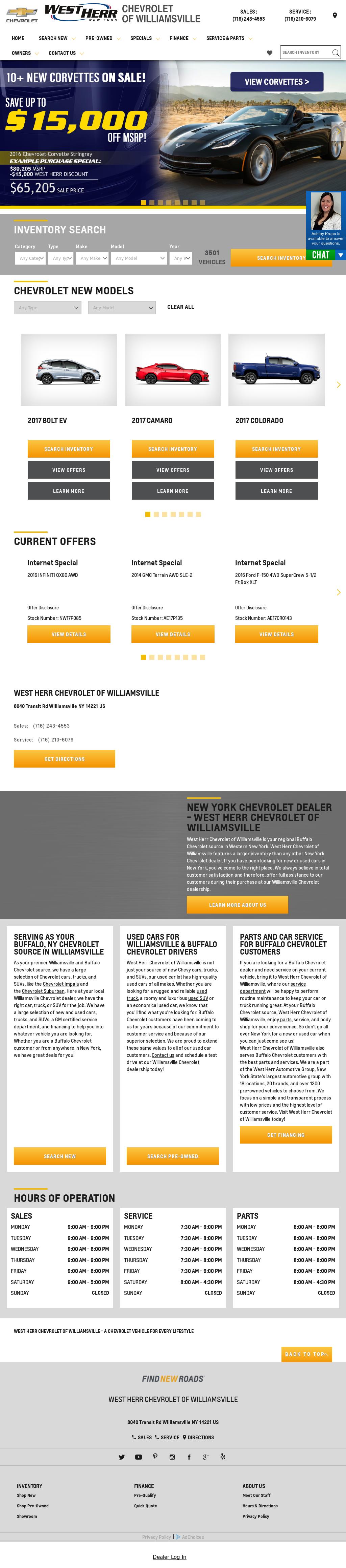 West Herr Chevrolet Of Williamsville Website History