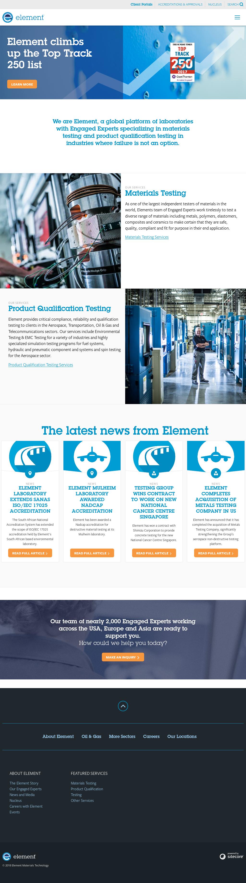 Element Materials Technology's Latest News, Blogs, Press