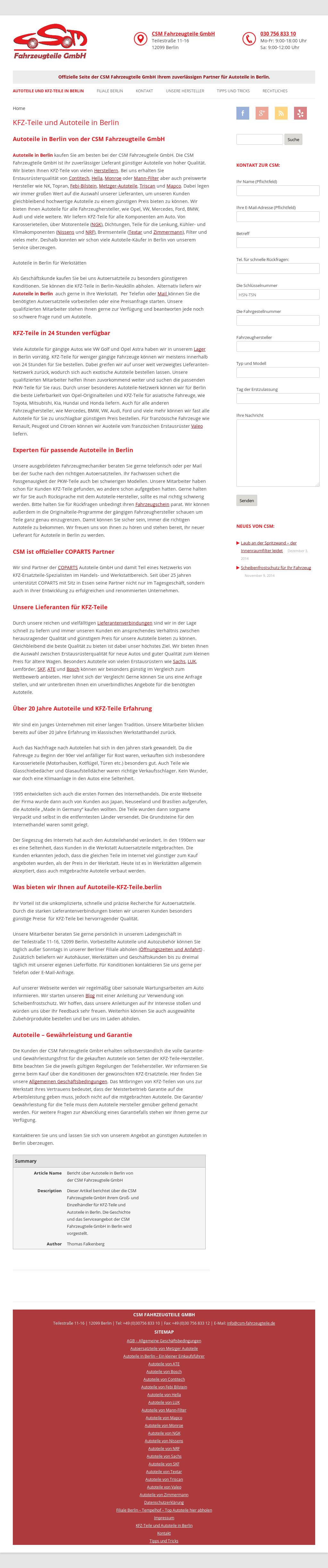 Zeycon Autoteile, Kfz-teile, Fahrzeugteile Competitors, Revenue and ...