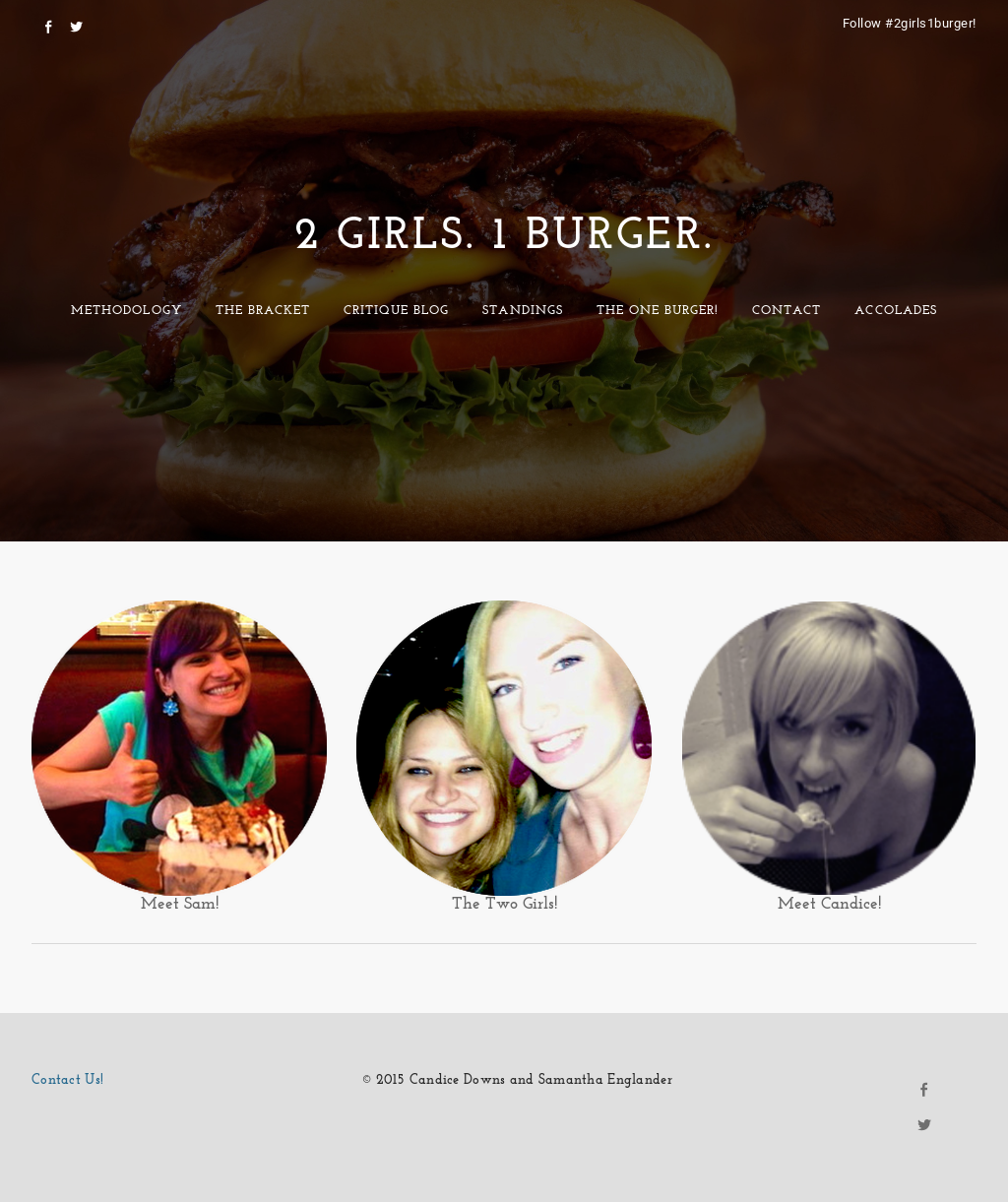 2 Girls 1 Burger Website History