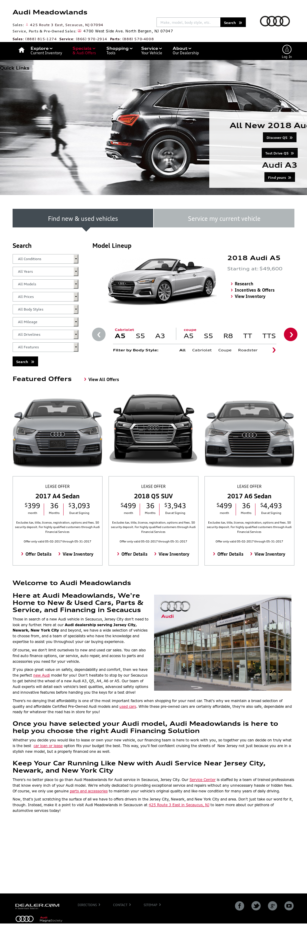 Audi Meadowlands Competitors Revenue And Employees Owler Company - Audi meadowlands