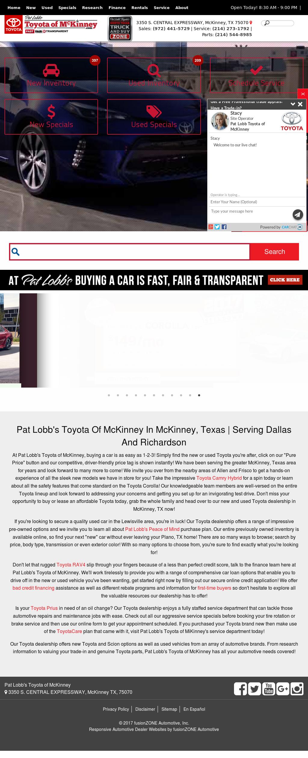 Pat Lobb Toyota Website History