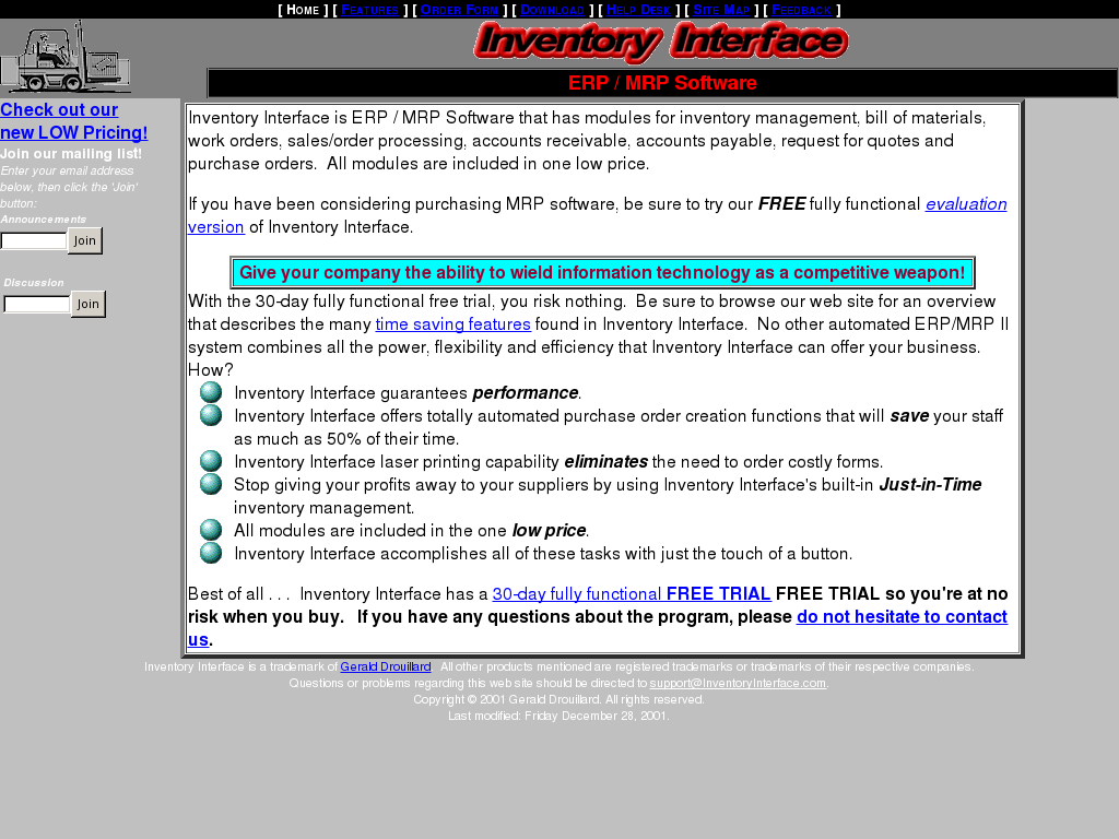 Inventory Interface Competitors, Revenue and Employees