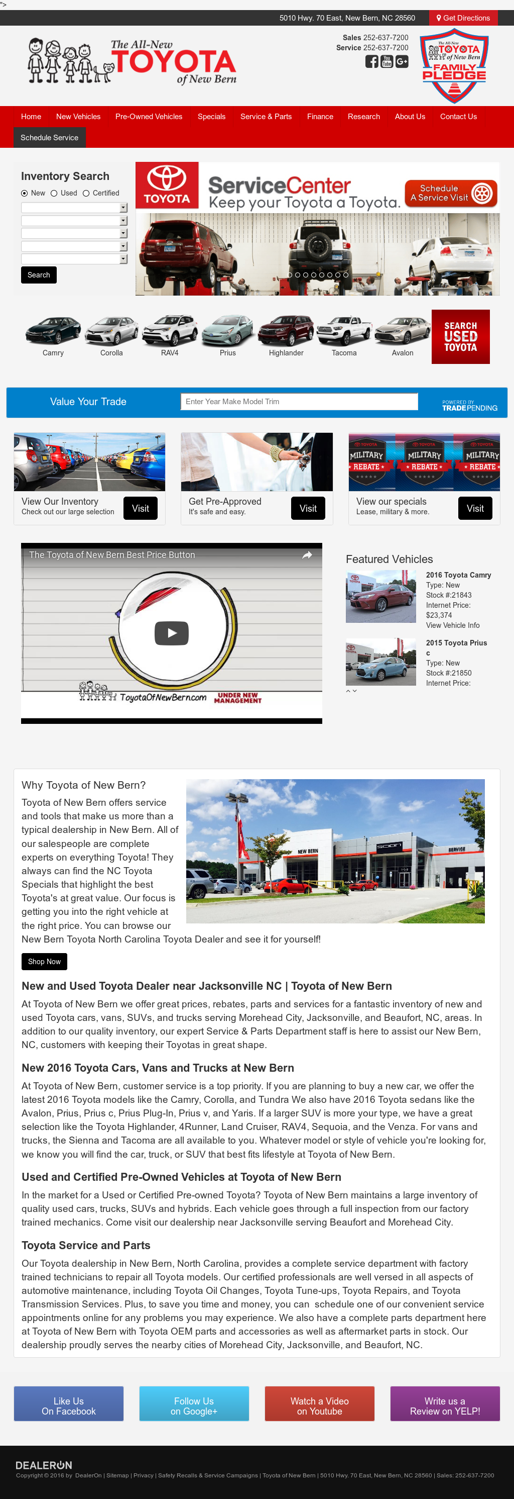 Toyota Of New Bern >> Toyota Of New Bern Competitors Revenue And Employees