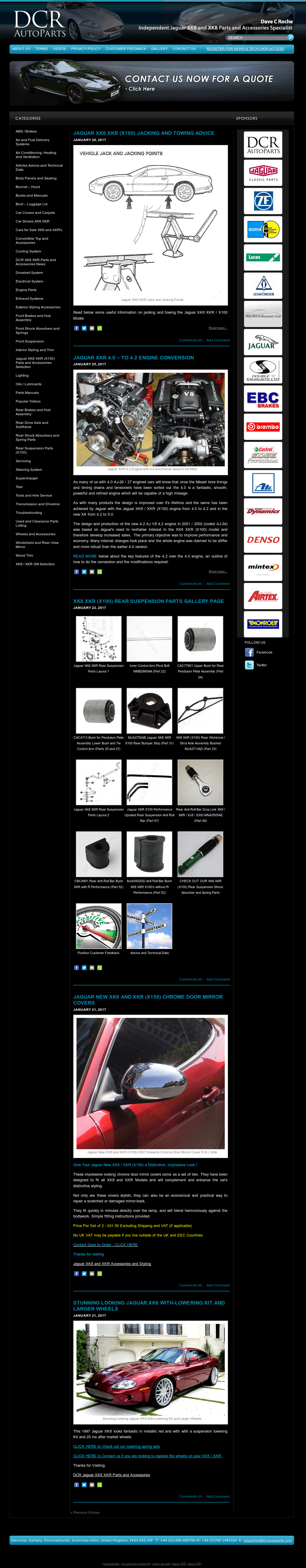 Jaguar Xk8 And Xkr Parts And Accessories - From Dave Roche