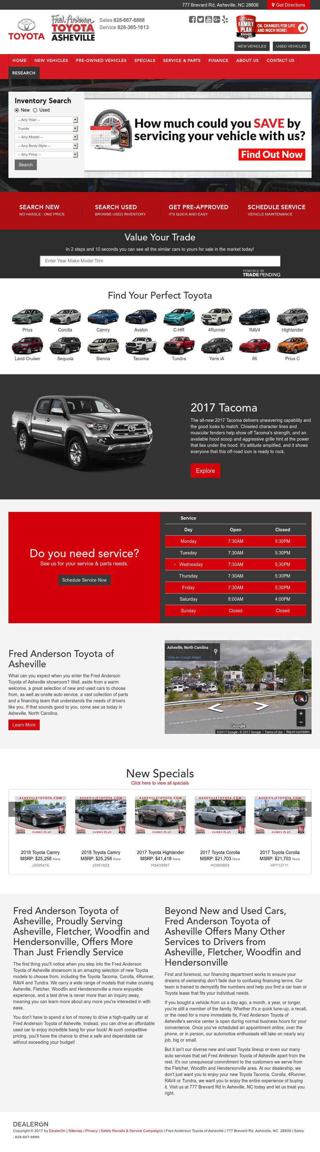 Jim Barkley Toyota Of Asheville Website History