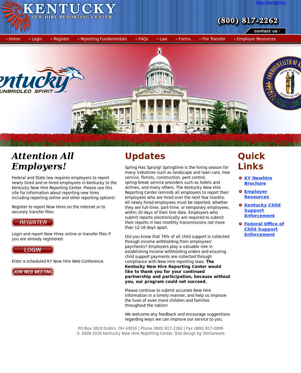 Kentucky New Hire Reporting Center Competitors, Revenue and