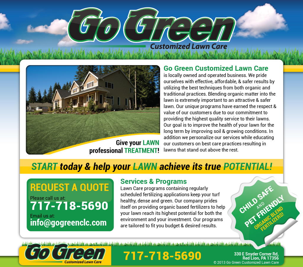 Go Green Customized Lawn Care Compeors Revenue And