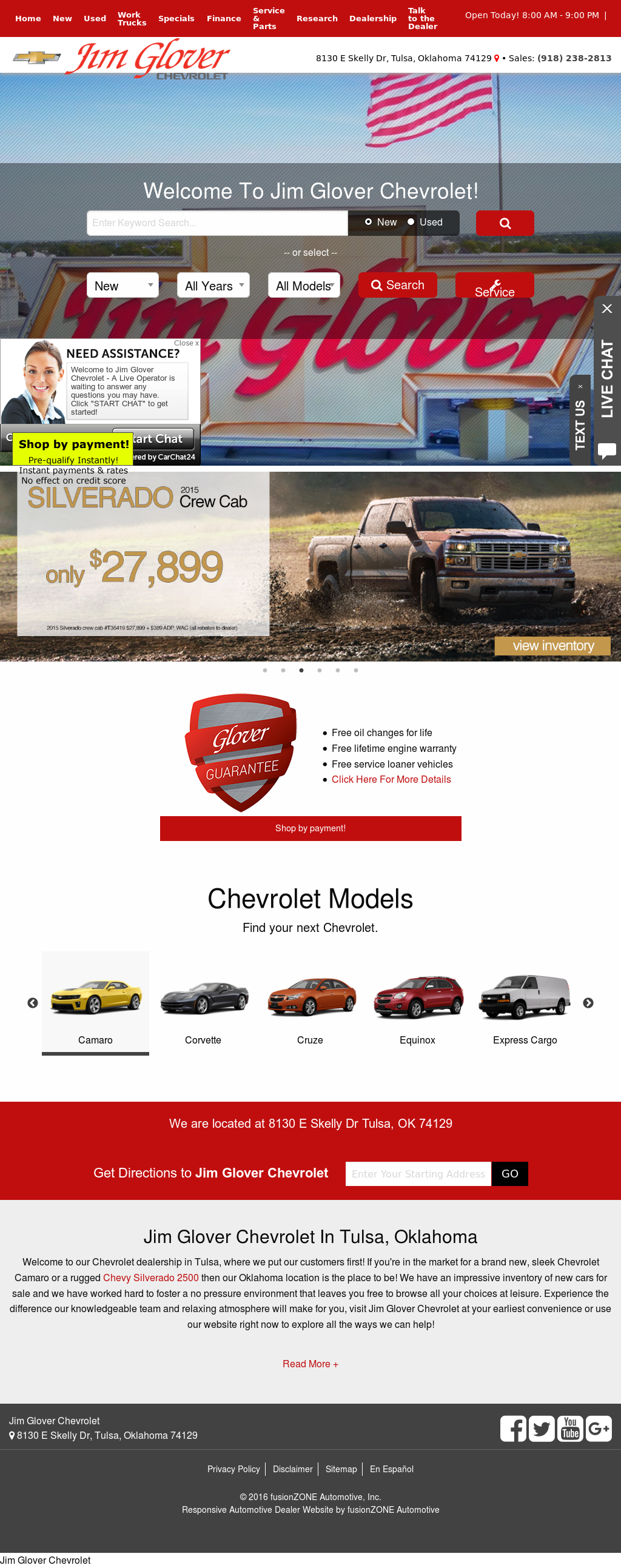 Jim Glover Chevrolet Competitors, Revenue And Employees   Owler Company  Profile