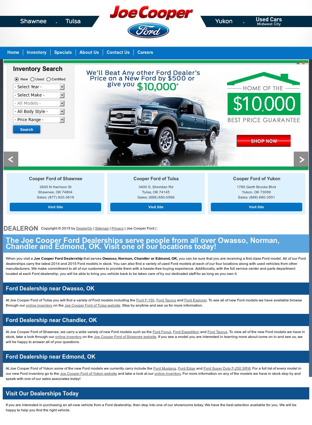 Joe Cooper Ford Shawnee >> Joe Cooper Competitors Revenue And Employees Owler
