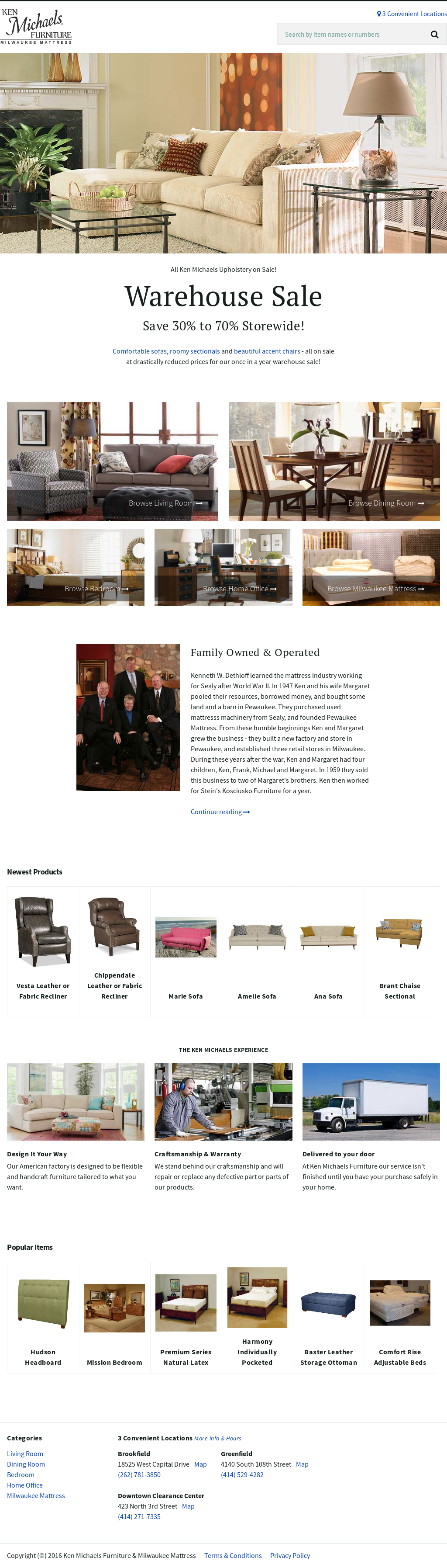 Bon Ken Michaels Furniture Website History