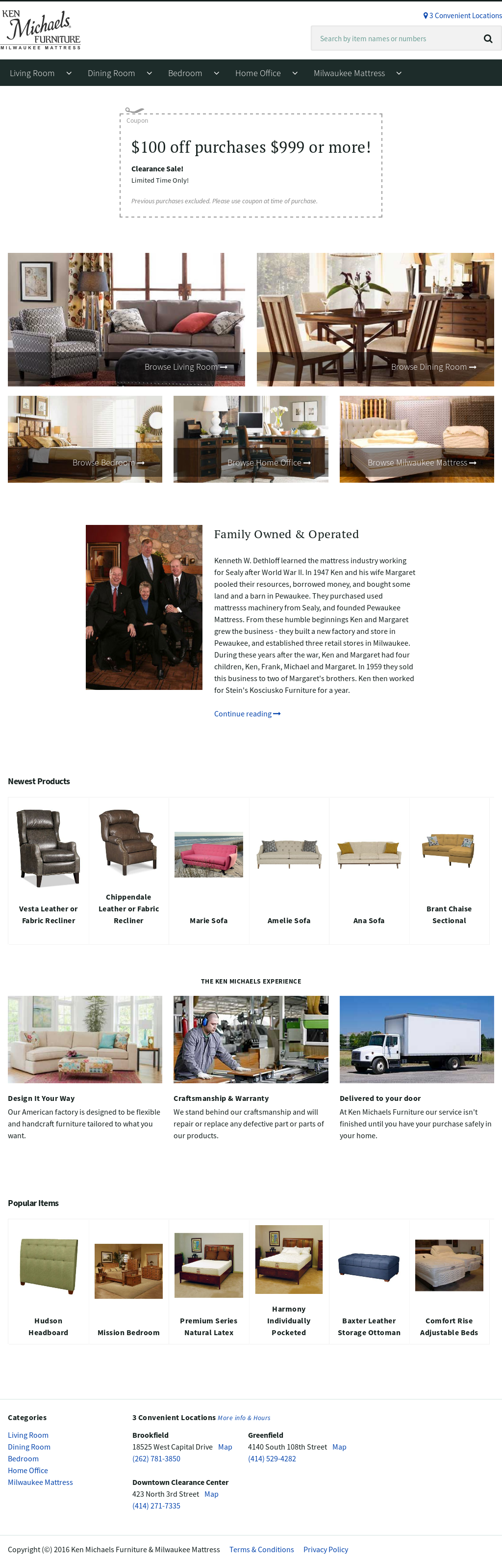 Merveilleux Ken Michaels Furniture Website History