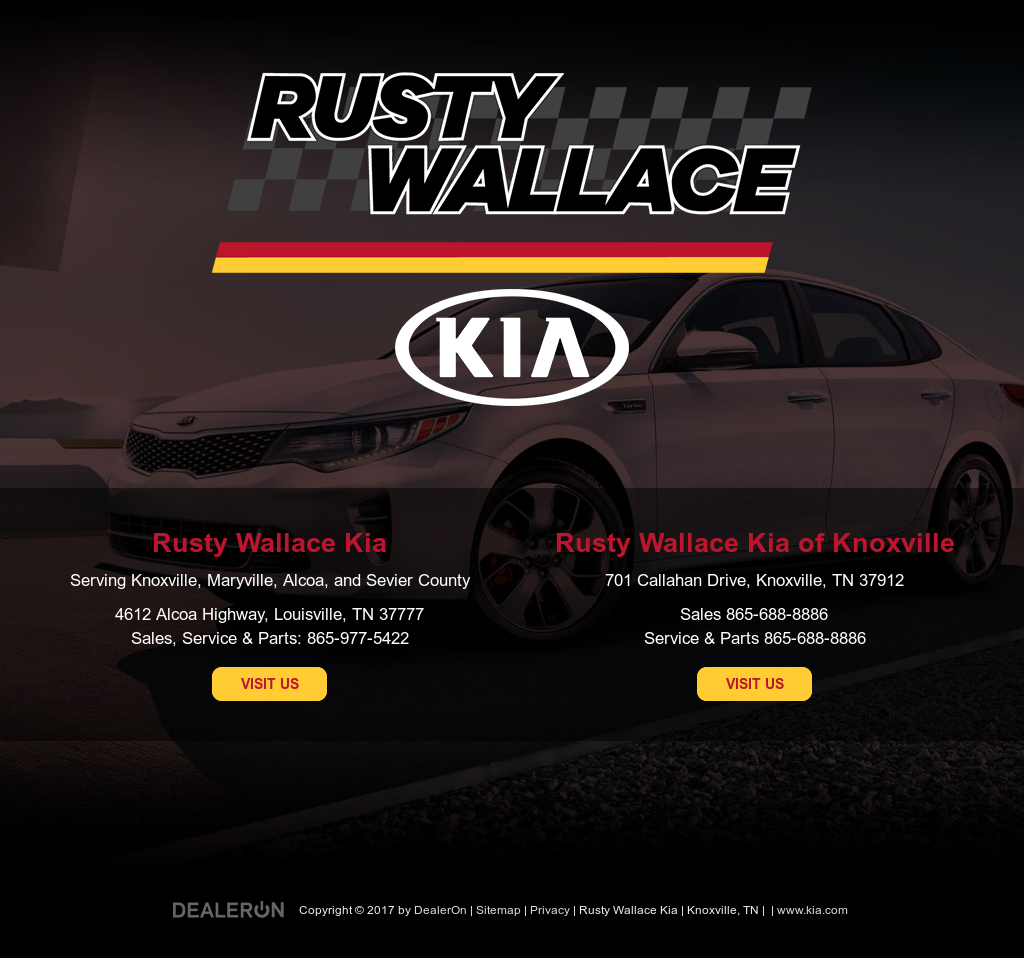 Rusty Wallace Kia Website History