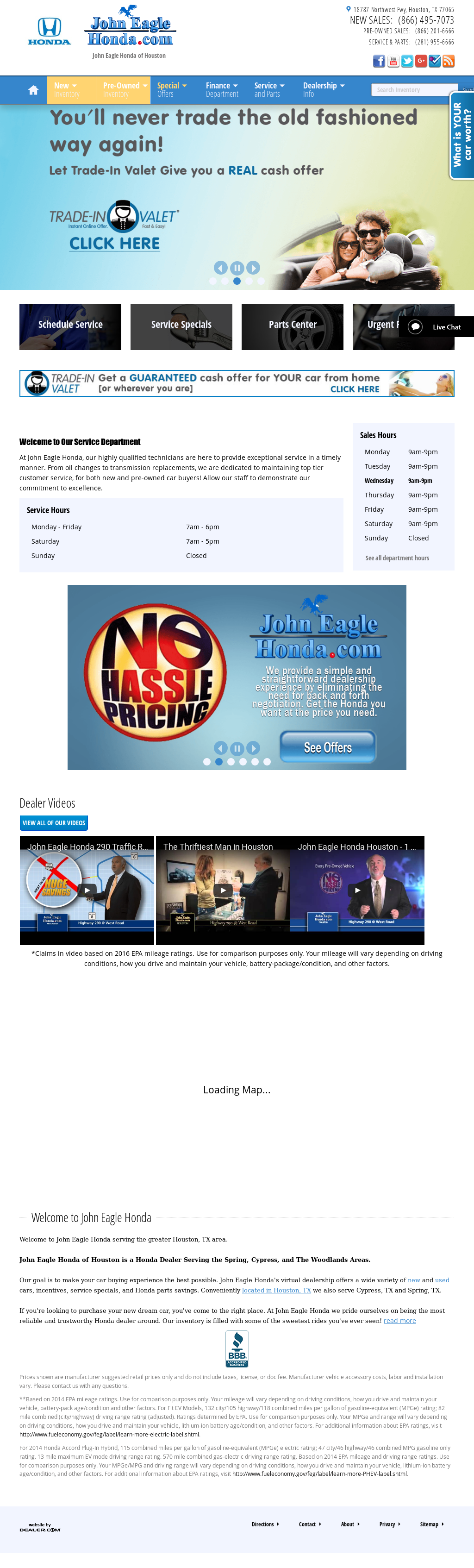 John Eagle Honda Of Houston Website History