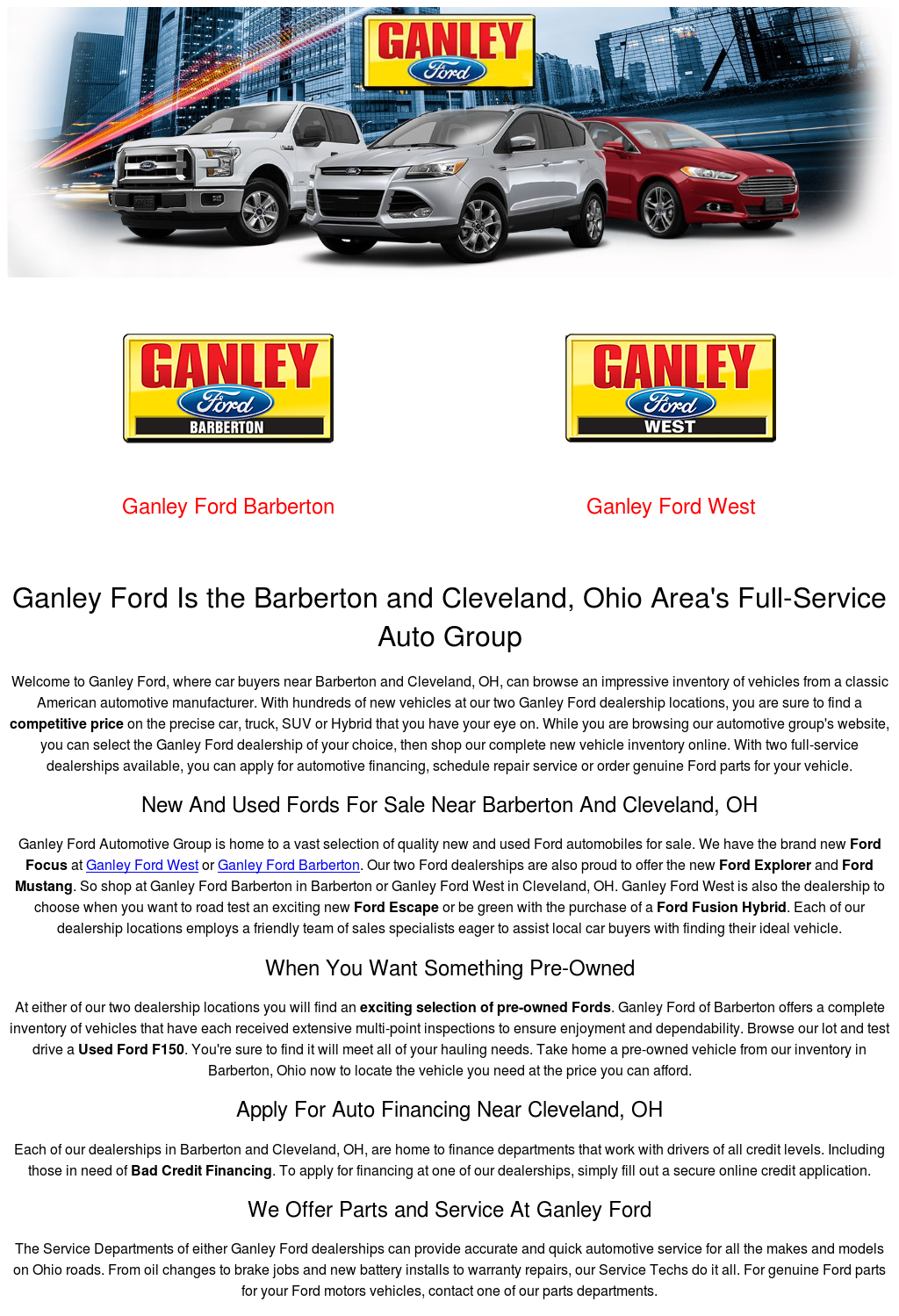 Ganley Ford Barberton >> Ganley Ford Competitors Revenue And Employees Owler Company Profile