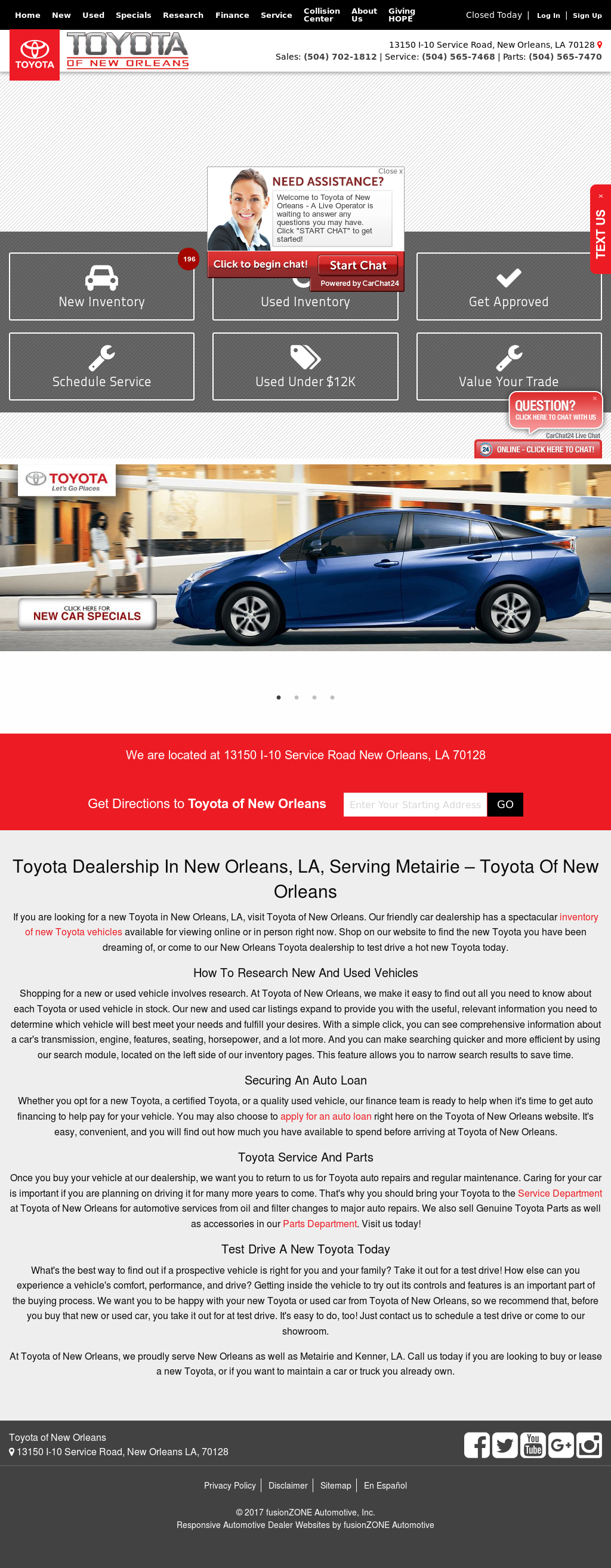 Toyota Of New Orleans Competitors Revenue And Employees Owler