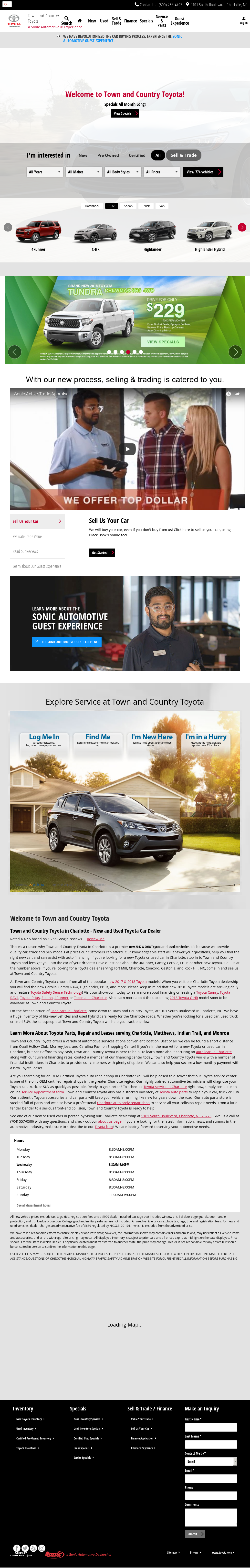 Town And Country Toyota Website History