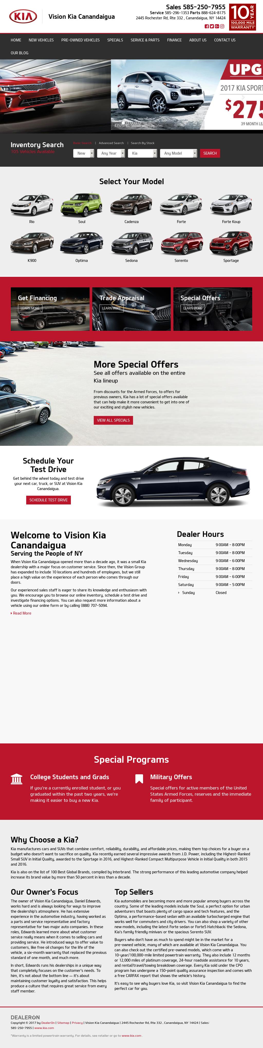 Vision Kia Canandaigua petitors Revenue and Employees Owler