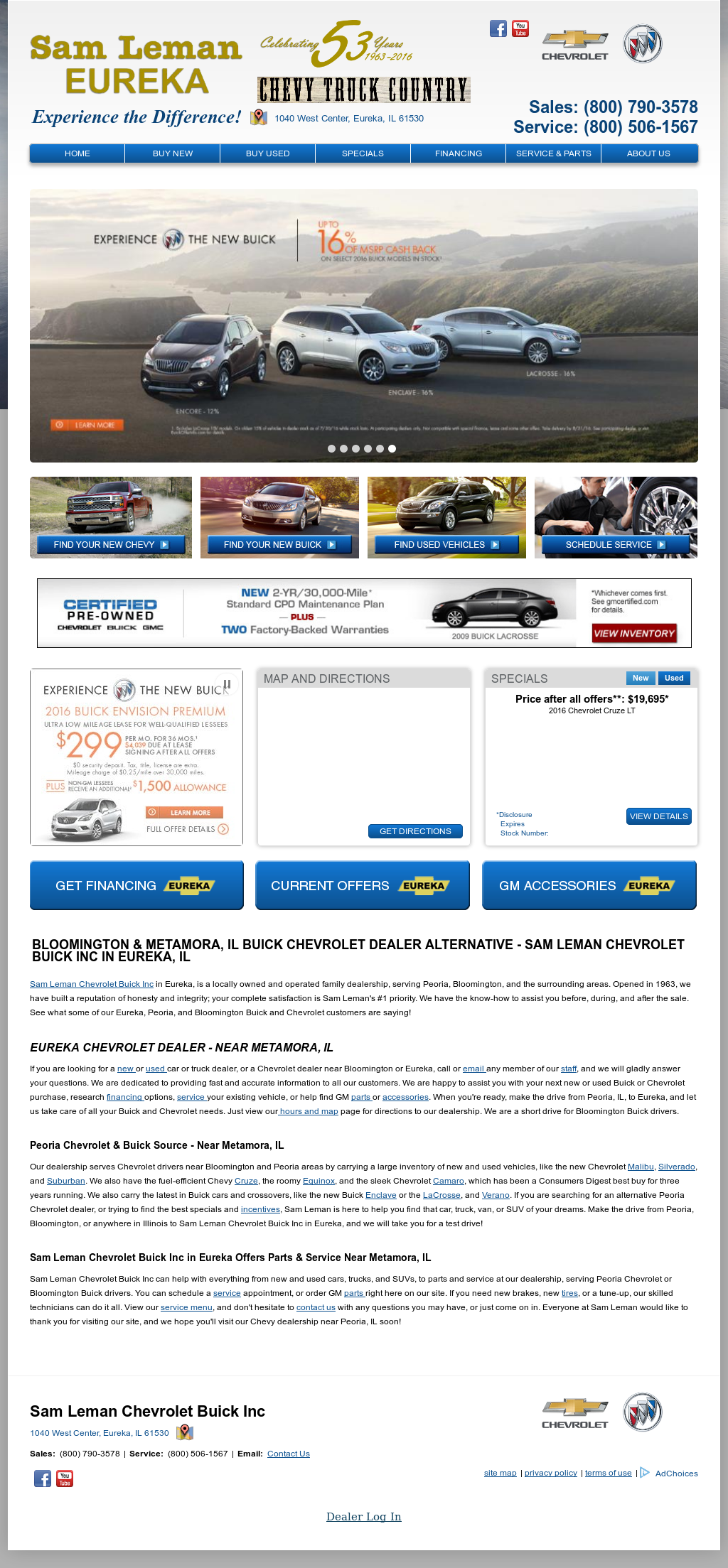 Sam Leman Chevrolet Buick petitors Revenue and Employees Owler
